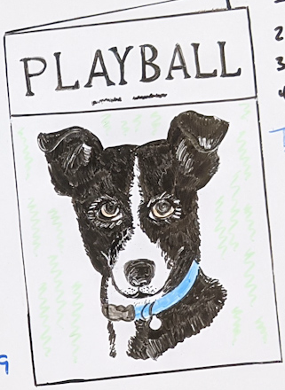 Hand drawing of a Playbill, called