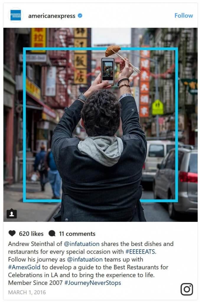 american express storytelling example micro influencers guide