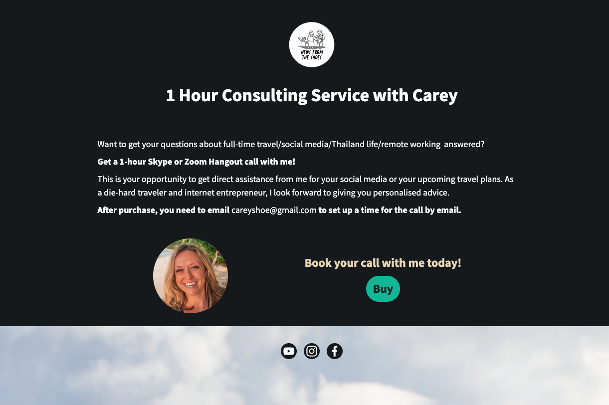 consulting ecommerce page