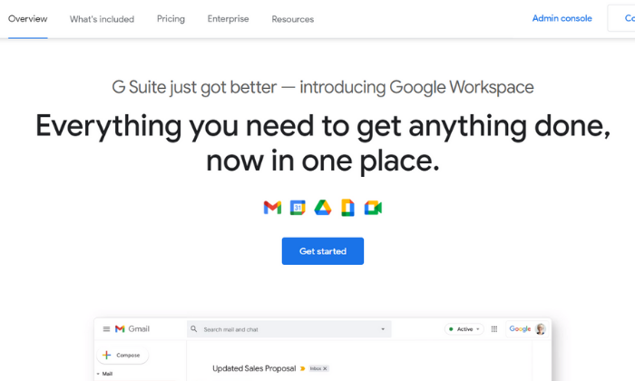 Google Drive splash and signup page for Best Cloud Storage Services